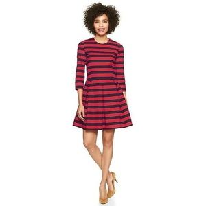 NWT Red and Blue Striped Dress